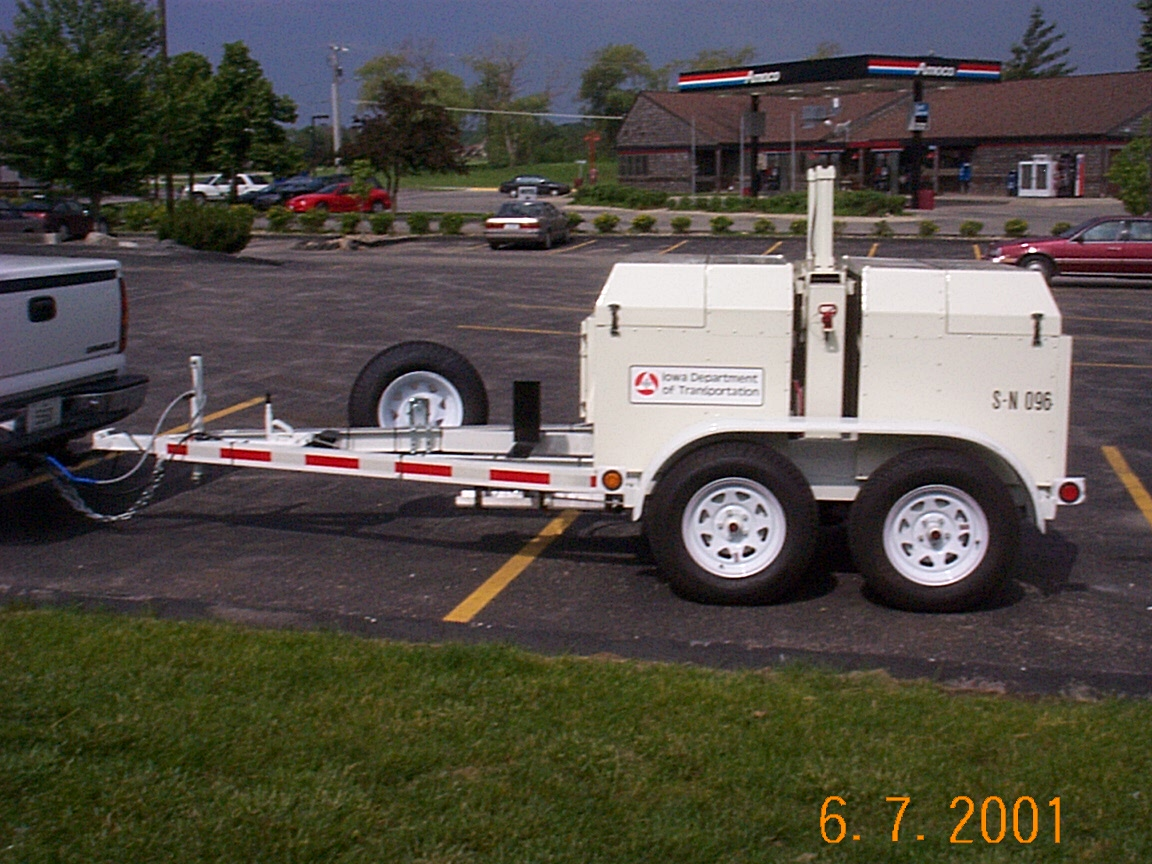 falling weight deflectomoeter structural adequacy testing trailer