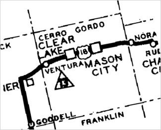 Map section of Mason City's 22-acre Margaret M. MacNider Park