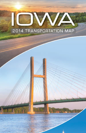 Iowa Transportation Map 2014