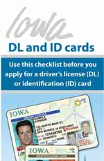 Iowa DL/ID Checklist brochure