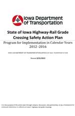 State of Iowa Highway-Rail Grade Crossing Safety Action Plan