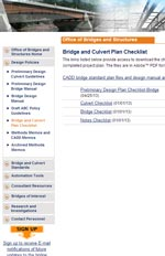 Bridge and Culvert Plan Checklist