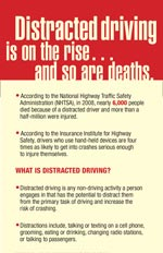 Distracted driving flyer
