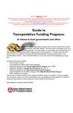 Guide to Transportation Funding Programs