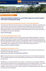 Instructional Memorandums to Local Public Agencies and the Federal-Aid Project Development Guide