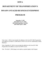 2008 Disadvantaged Business Enterprise Program (Current)
