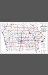 National Highway System Map - Iowa