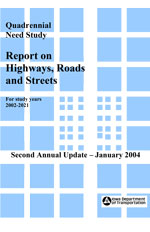 Quadrennial Need Study - Report on Highways, Roads and Streets