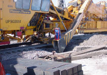Railroad construction photo