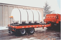 Homemade 1800 gallon mounted on trailer.
