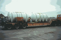 Homemade 3600 gallon tailer mounted unit.