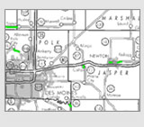 Iowa Annual Pavement Restrictions map