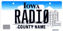 Amateur radio call letter plate