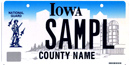 Iowa National Guard License Plate