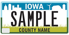 Personalized Plates - Regular County Design