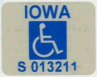 Persons with Disabilities Sticker