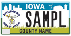 Shriners License Plate Application