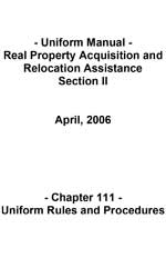 Uniform Manual - Real Property Acquisition and Relocation Assistance Section II