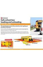 Safe school bus loading and unloading - Drivers