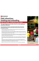 Safe school bus loading and unloading - Administrators