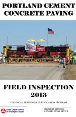 PCC Paving Field Inspection Manual