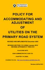 Policy for Accommodating and Adjustment of Utilities on the Primary Road System
