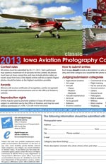 Aviation photography contest brochure