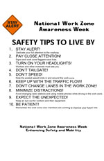 National Work Zone Awareness Week - Safety Tips to Live By