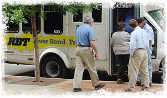 River Bend transit bus