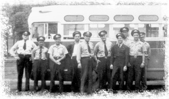 Bus drivers in the 40's