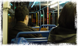 Riding the bus at night