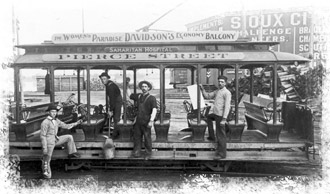 Early Sioux City trolley